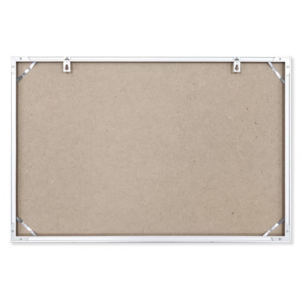 Рамка для плана эвакуации 60x40 см из алюминиевого профиля Nielsen №2 цвет серебро